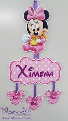 #ColganteDeMaternidad #Dibendi #Diseño #Minnie #Cute #Decoration