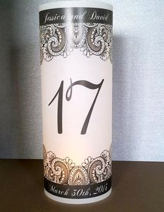 Paisley Luminary Candle Surrounds shown in Black and Gold - Ethnic Wedding - Votive for Wedding Reception - with your names and date. $3.00, via Etsy.