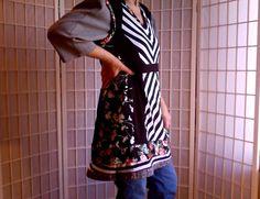 36  Medium  Quirky Mini Dress Jeans Topper Med by ArtzWear on Etsy