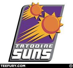 Star Wars + NBA = Tatooine Suns logo.