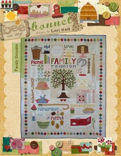 0b291dba61 Family Reunion applique quilt pattern by LoriHolt on Etsy
