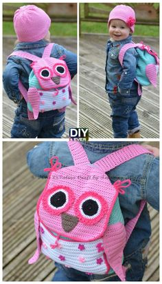 Cute Crochet Owl Backpack Pattern