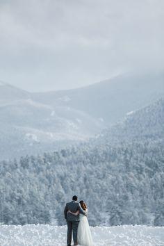 Snowy winter elopement in Colorado                                                                                                                                                                                 More