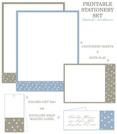 Free Printable Stationery +Tags - Home - Creature Comforts - daily inspiration, style, diy projects + freebies