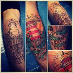 // эскиз клиента, немного переделан // #sergeyhate #sergeyhatetattoo #hatetattoo #krasnodartattoo #krasnodar #tattoo #lighthouse  #neotraditional #краснодар #краснодартату #сергейхэйт #неотрадишинал #тату