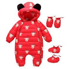 c92fcf002d8 SUNBIBE Newborn Toddler Baby Girls Boys Christmas Rompers Cartoon Deer  Jumpsuit Coats Socks Gloves Outfits 624