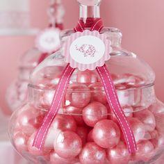 Pink shimmer gumballs