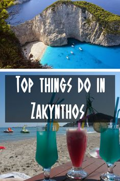 Zakynthos is one of the most beautiful Greek islands. This Zakynthos guide highlights the main things to see and do during your Zakynthos holidays. Mykonos, Santorini, Backpacking Europe, Europe Travel Tips, Places To Travel, Travel Destinations, Travel Guides, European Destination, European Travel