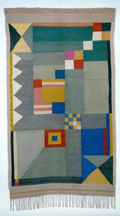 Benita Otte - Women of the Bauhaus - Bauhaus was a German art school (1919-1933) famous for their new approach to design and fine arts. The women of Bauhaus made their own textiles.