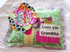 Mother's Day Sachet Lavender sachet Grandma pillow by Itsewbella, $7.00