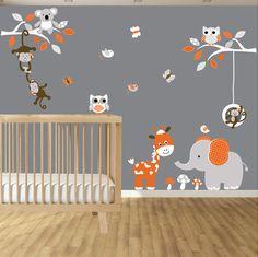 Amazoncom Elephant Bubbles Nursery Wall Decal Set Grey Baby - Elephant wall decalsamazoncom elephant bubbles wall decal nursery decor baby