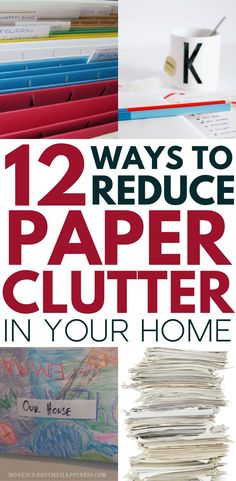 Sometimes I feel like paper is taking over my life! These 12 tips have helped me to reduce paper clutter in my home by over 50%. Check them out if you are looking for tips on decluttering paper and organizing paper in your home.