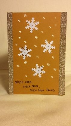 Kartka świąteczna - Niech pada! #christmas #snow #snowflake #christmascard