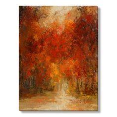 Gallery Direct Fine Art Prints: Sunny Autumn by Caroline Ashton Abstract Landscape, Landscape Paintings, Abstract Art, Paintings Of Trees, Fall Landscape, Painting Prints, Fine Art Prints, Autumn Painting, Impressionist Art