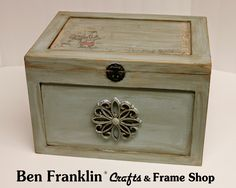 Ben Franklin Crafts and Frame Shop: Chalk Paint furniture Project with Wax Finish