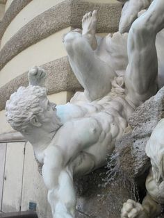 Hofburg Palace - Power by Land fountain by Edmund Hellmer - Vienna Austria (details)