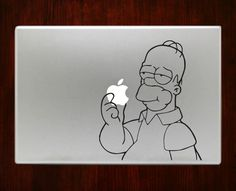 "Homer simpson Decal Sticker Vinyl For Macbook Pro/Air Decal Sticker Vinyl For Macbook Pro Air 13"" Inch 15"" Inch 17"" Inch Decals"
