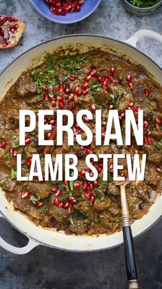Persian Lamb Stew This lamb stew recipe is packed with so much flavour! Melt in the mouth cubes of lamb simmered with fragrant spices, ground walnuts and pomegranate molasses. Easy to make on the hob, Instant Pot or slow cooker Cooker Recipes, Beef Recipes, Healthy Recipes, Recipes With Lamb, Recipes With Ground Lamb, Chicken Recipes, Healthy Baking, Iranian Cuisine, Lamb Dishes