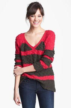 stripe pullover sweater - cozy and cute