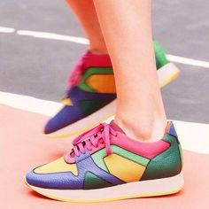 A shoe so cool—and jauntily soled!—that Cara Delevingne wore hers straight off the runway