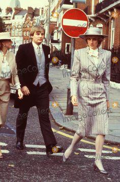 October 28, 1983: Princess Diana attending the wedding of former flatmate, Ann Bolton.