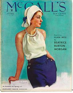 McCall's Magazine, c. 1934. that's a cute outfit! not sure i'm bold enough to rock the hat though