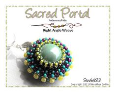 Right Angle Weave Orb Pendant Beading Tutorial SACRED by Studio183, $3.00