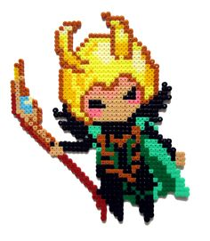 Loki II by Aenea-Jones on deviantART not a cross stitch pattern but can be adapted to suit