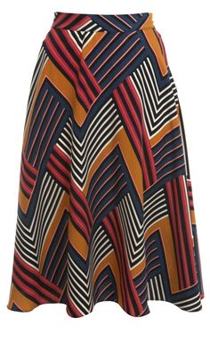 Miss Selfridge Multi Stripe Midi Skirt. This would look great with the right sweater and boots!