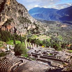 Delphi, Greece - scary drive - but worth it.