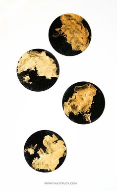 DIY black and gold c