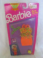 BRAND NEW 1992 BARBIE DOLL CLOTHING EASY LIVING FASHIONS 660 ORANGE SKIRT/SHIRT