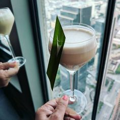 "234 Likes, 9 Comments - Caroline on Crack (@carolineoncrack) on Instagram: ""Best cocktail garnish? View from 71 stories up.  @71above's Filipino Town: Pandan & Coconut-…"""
