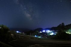 Milky road in the heaven at mid night. view from Sasayuri-ann villa.