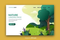 Nature landing page flat design Free Vector Design Plat, Flat Design, Adobe Illustrator, Webdesign Inspiration, Graphic Design Inspiration, Page Design, Book Design, Design Design, Webdesign Layouts