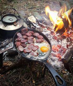 Survival Smarts — bushcraftturk: Sunday #breakfast #outdoorcooking...