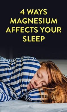 If you're having trouble sleeping and melatonin supplements aren't working for you, you might be looking for another all-natch option. Enter magnesium, a mineral that occurs naturally in your body. Ways magnesium affects your sleep include improving… Benefits Of Magnesium Supplements, Sleep Supplements, Supplements For Anxiety, Supplements For Women, Natural Supplements, Magnesium For Sleep, How Much Magnesium, Low Magnesium, Health And Wellness