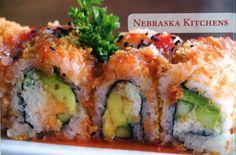 Blue Sushi and Sake Grill, Omaha. i miss u blue Best Sushi, Mushroom Recipes, Feel Good, Nom Nom, Grilling, Clever, Stuffed Mushrooms, Household, Fish