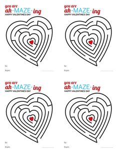 Valentine Maze (lots of other free printables)