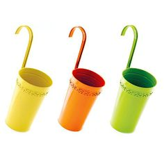 CITRUS WALL BUCKETS - SET OF 3  Plant flowers in them and let them hang-will keep children and critters away from them #garden  #buckets