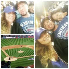 THINK BLUE: Take me out to the ball game!!  They made me hop on that bball train lol good times!! #dodgers #theywon #openingweek #baseball #bb #ballgame #strikedout #homerun #funtimes #losdoyers by yes_honey22