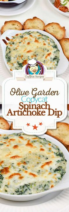 You can make your own copycat Olive Garden Spinach Artichoke Dip at home with this easy appetizer recipe.