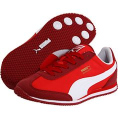 4788c8807e2f Puma kids whirlwind jr toddler youth jester red white fiery red. He wanted  shoes like Sonic the Hedgehog