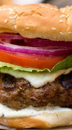 Stuffed Greek Burger