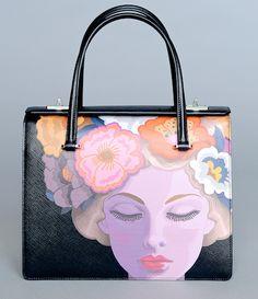 Prada -- Saffiano Lisa-Print Satchel Bag