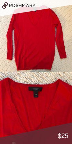 J Crew v neck sweater Only worn once super soft J. Crew Sweaters V-Necks