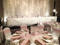 Pink Lace and Bling Wedding #lachefs