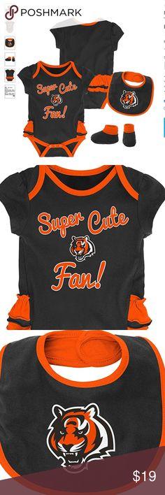 Black Outerstuff NFL Infant Cincinnati Bengals Fan Jersey Romper