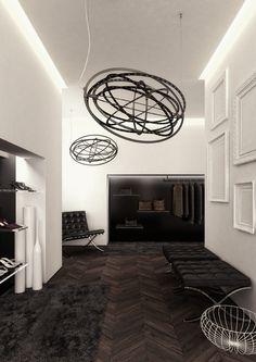 Black #Copernico suspensions, #design Carlotta de Bevilacqua.