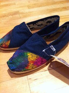 Hand-Painted, Multi-Colored TOMS. Wish I was talented enough to make these...